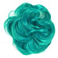 Color haar scrunchie met elastiek zeegroen turquoise