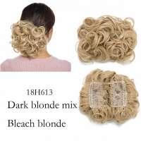 Chignon elastisch haarstukje / vlinderkam kleur 18H613