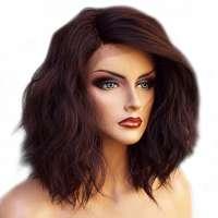 Lace front pruik nonchalant bob model Peagan kleur 4