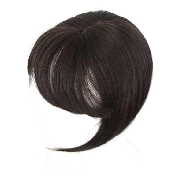 Clip in haartopper steil haar met pony kleur 6A