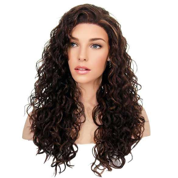 Lace front pruik met krullen model Shania kleur FS4-27