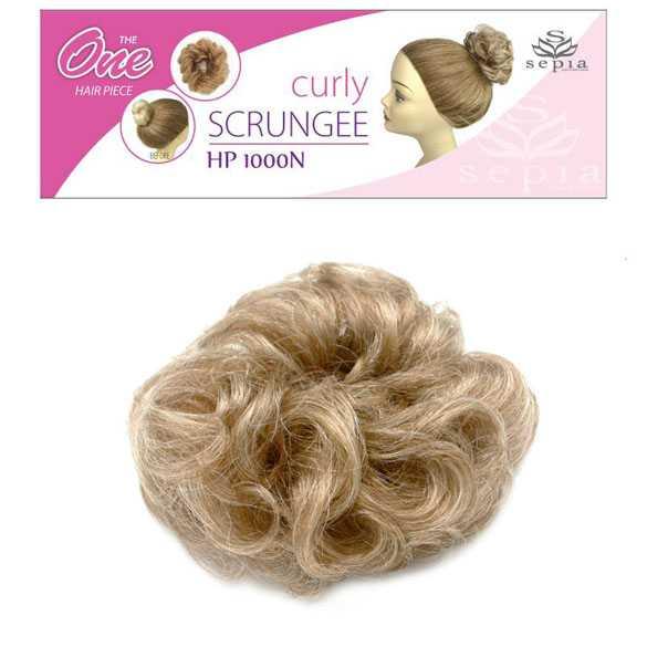 SEPIA Haar scrunchie met elastiek blondmix kleur F27-613