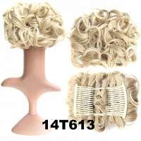 Chignon elastisch haarstukje / vlinderkam kleur 14T613