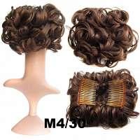 Chignon elastisch haarstukje / vlinderkam kleur M4-30