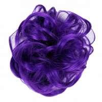 Color haar scrunchie met elastiek paars