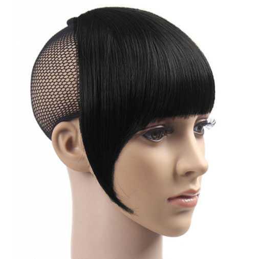 AANBIEDING : Haarstukje Clip-in pony zwart kleur 1