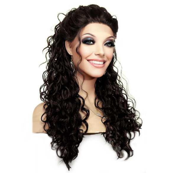 Lace front pruik met krullen model Shania kleur 4